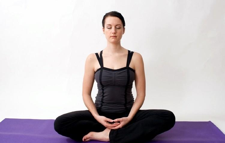 Easy Pose yoga