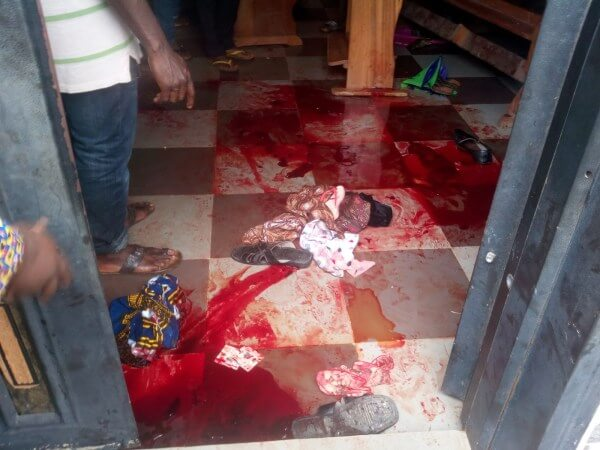 Blood-stains-at-the-scene-of-the-deadly-shooting-at-St.-Philips-Catholic-Church-at-Ozubulu-Ekwusigo-L.G.A-of-Anambra (1)