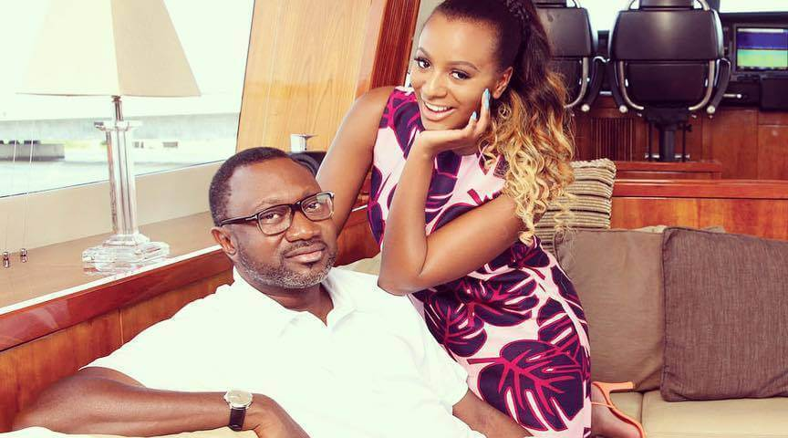 Image result for dj cuppy and father
