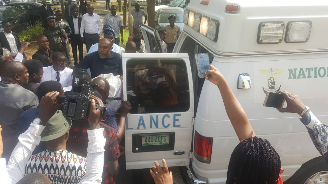 Metuh Brought Into Court On Stretcher