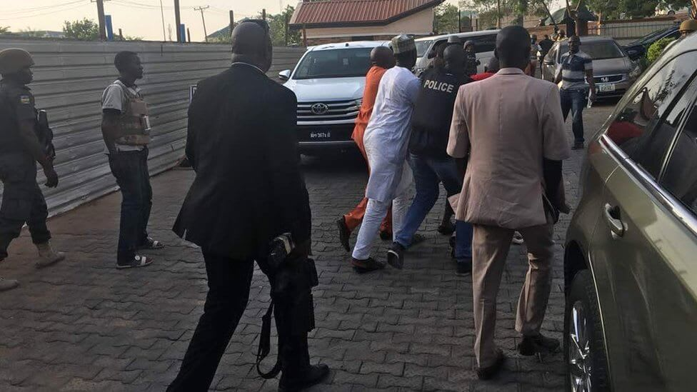 Image result for Dino Melaye surrenders to police