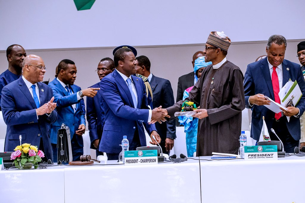 Image result for Buhari elected ECOWAS chairman