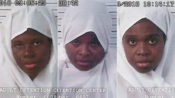 From the left Subhannah Wahhaj Jany Leveille and Hujrah Wahhaj were arrested on Friday. They are the mothers of the 11 malnourished children