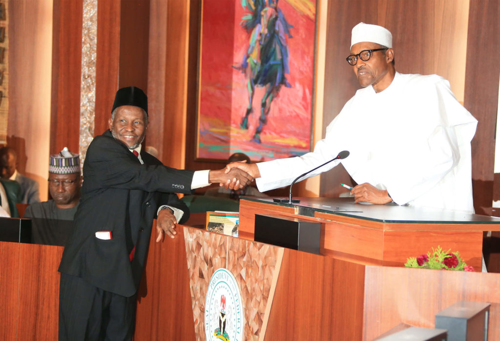 President Buhari Swears In New Cjn 3a 1 The Whistler Ng