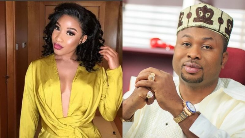 Image result for images of  Tonto Dikeh and churchill break up pic