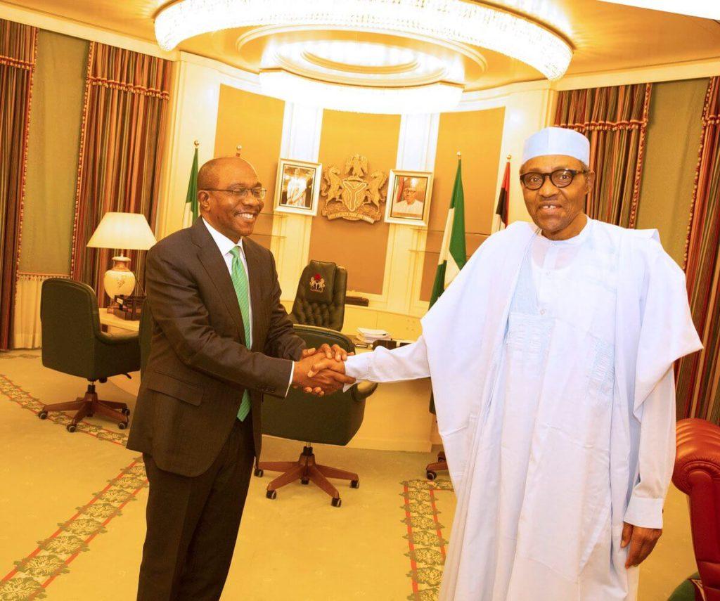 Photos: Buhari Congratulates Emefiele Over Tenure Extension 1