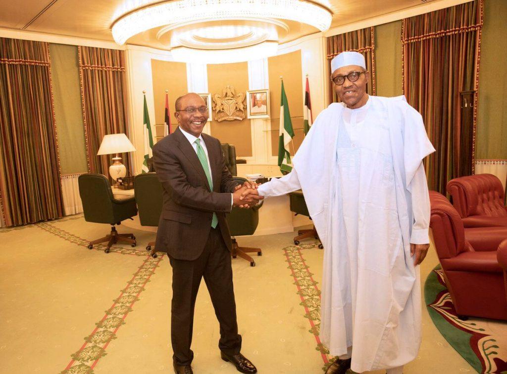Photos: Buhari Congratulates Emefiele Over Tenure Extension 2