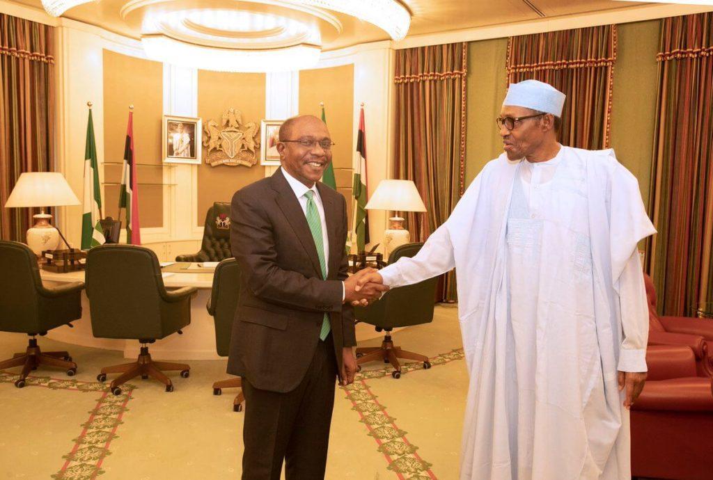 Photos: Buhari Congratulates Emefiele Over Tenure Extension 3