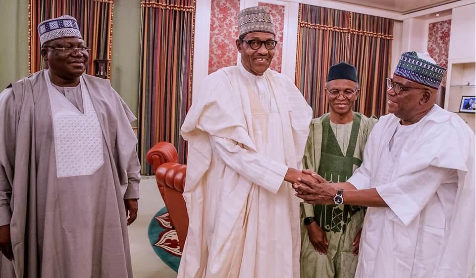Lawan-Ahmed-President-Muhammadu-and-Danjuma-Goje