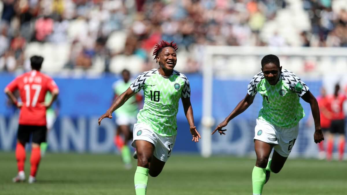 Image result for When Super Falcons Beat South Korea