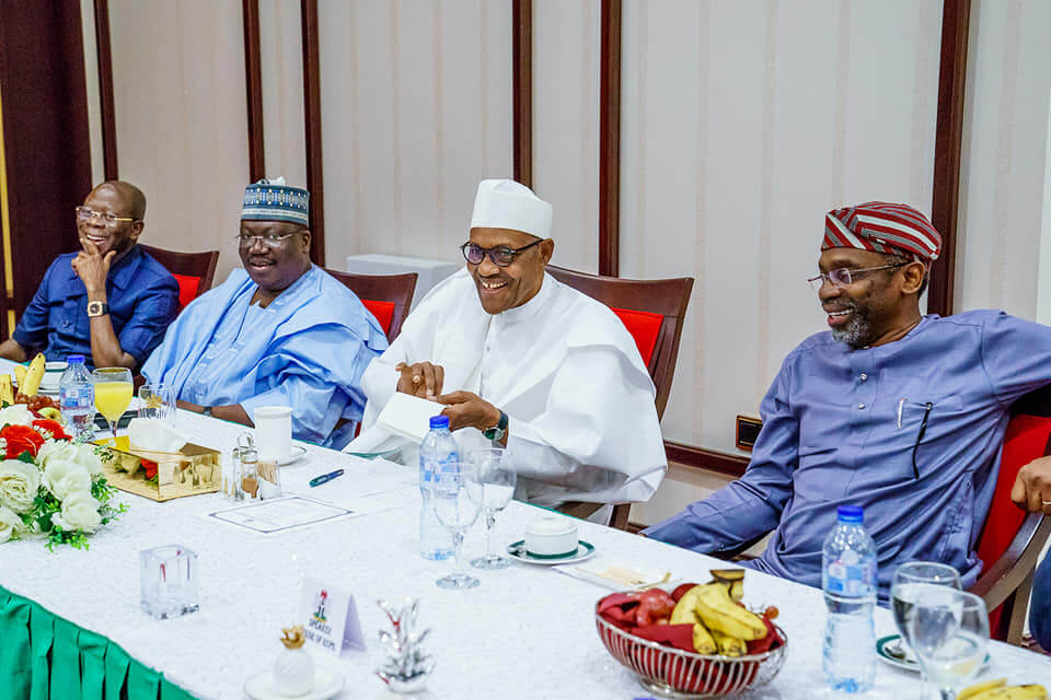 Breaking: Again Buhari Meets Lawan, Gbajabiamila Behind Closed Door