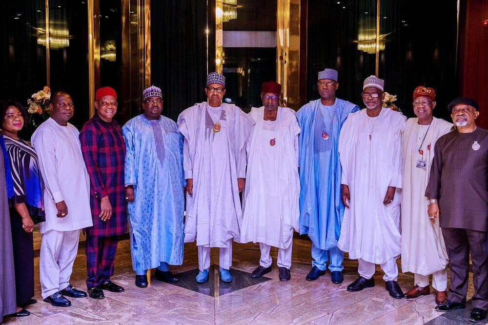 Buhari-receives-leadership-of-Nigeria-Union-of-Teachers-NUT
